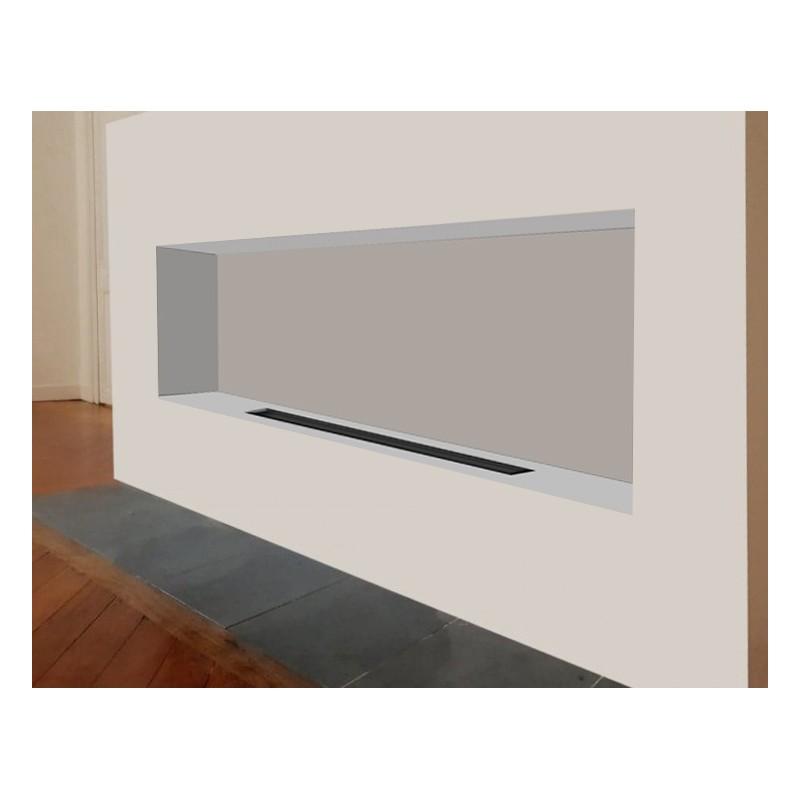 cheminée éthanol encastrable foyer 169 170 xxl  direct